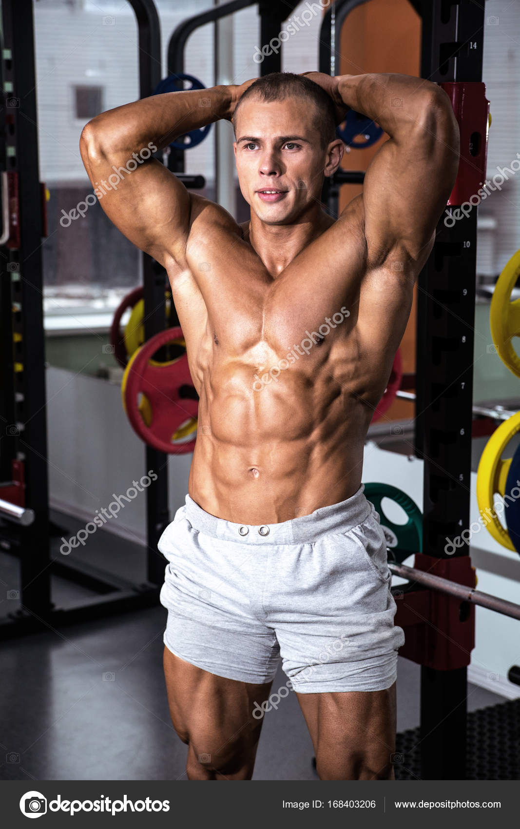 Perfect body athletic man — Stock Photo © OlgaOsa #168403206
