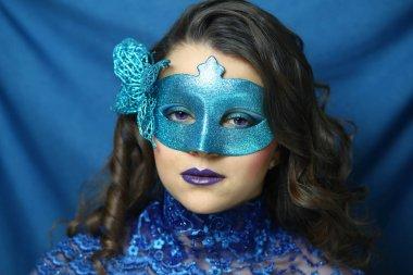 Blue mask beauty