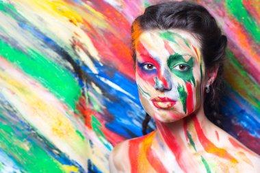 Woman art make up