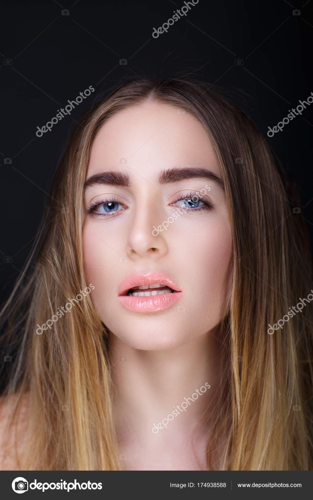 Woman ugly face \u2014 Stock Photo © OlgaOsa 174938588