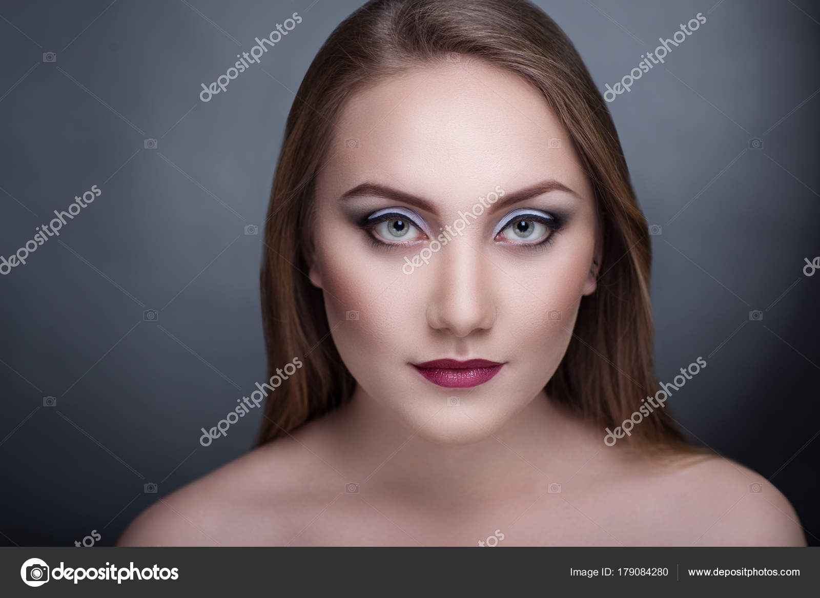 Beautiful Necked Woman Stock Image