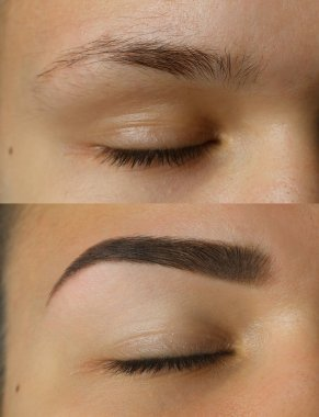eye brows before after