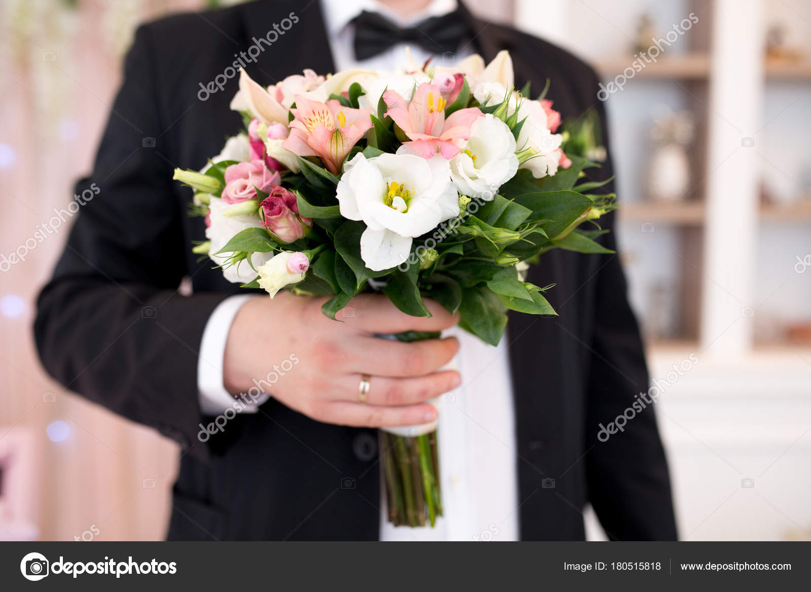 Man with flower bouquet stock photo olgaosa 180515818 man with flower bouquet stock photo izmirmasajfo