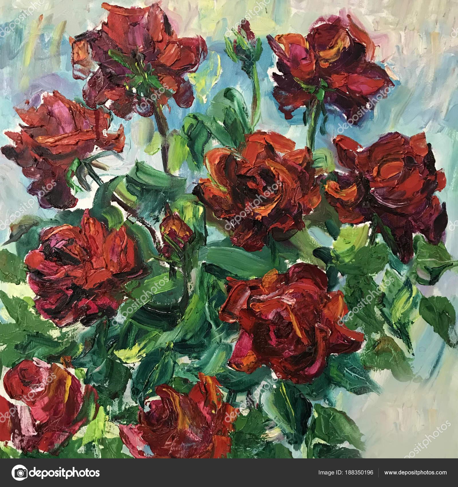 Disegno Di Bouquet Di Fiori Di Rose Rosse Foto Stock Olgaosa