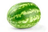 Zralý meloun izolovaných na bílém pozadí výřez