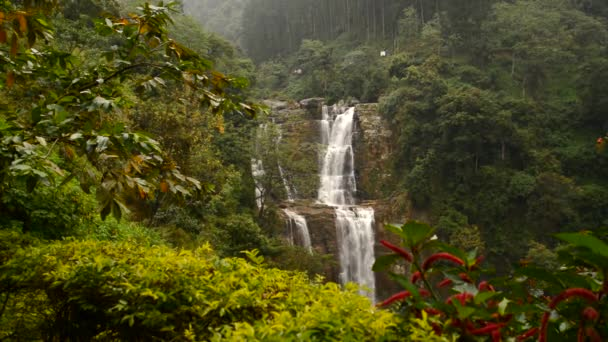 Beautiful waterfall Ramboda in Sri Lanka. Sri Lanka. Nuwara Eliya. Ramboda.