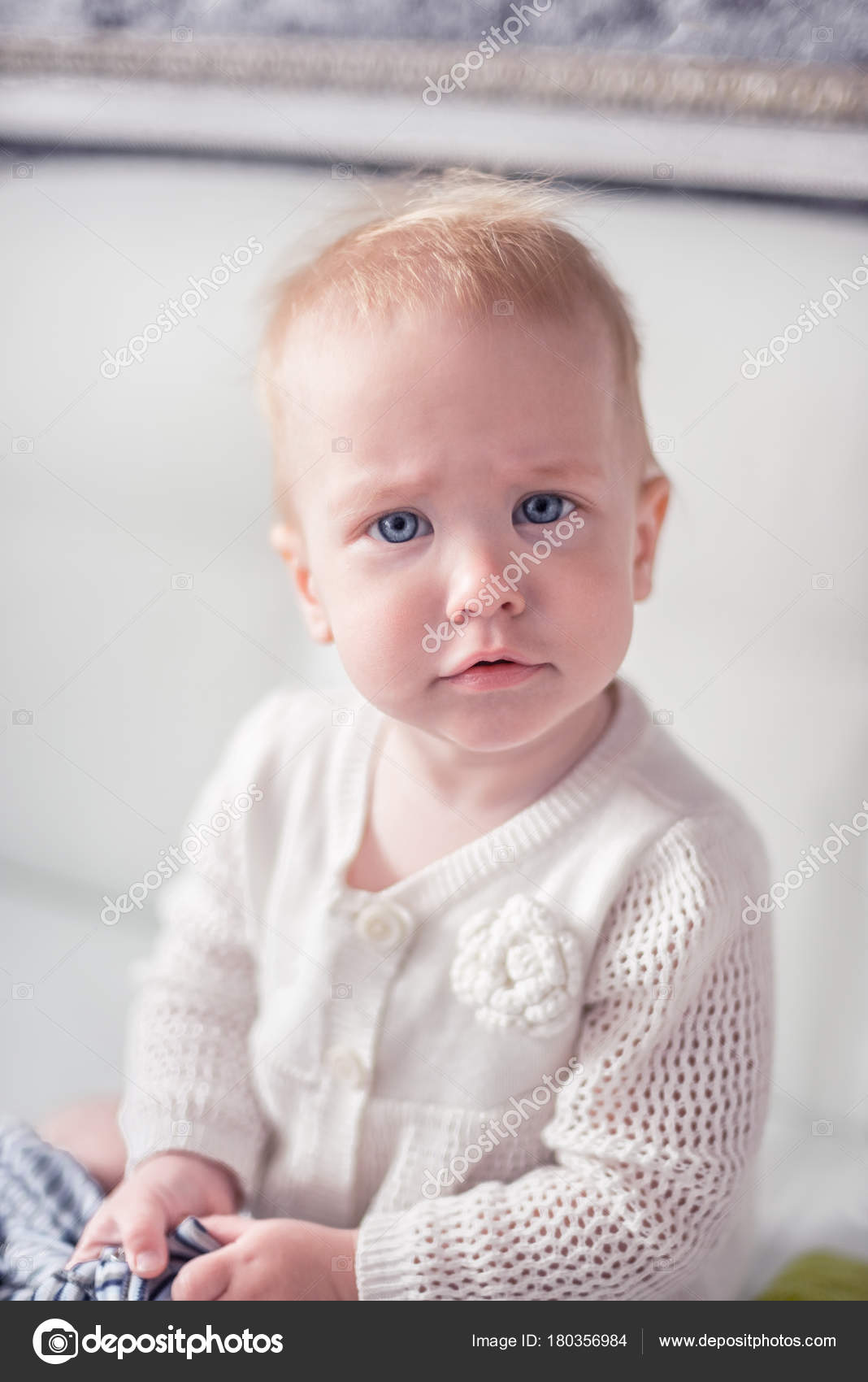 pretty baby girl with a blue eyes — stock photo © mr.prof #180356984