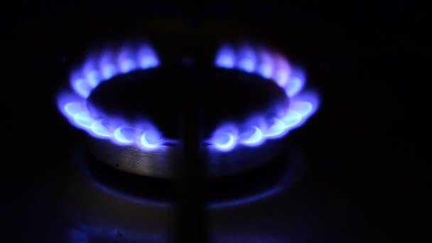 Erdgaskocher mit blauer Flamme