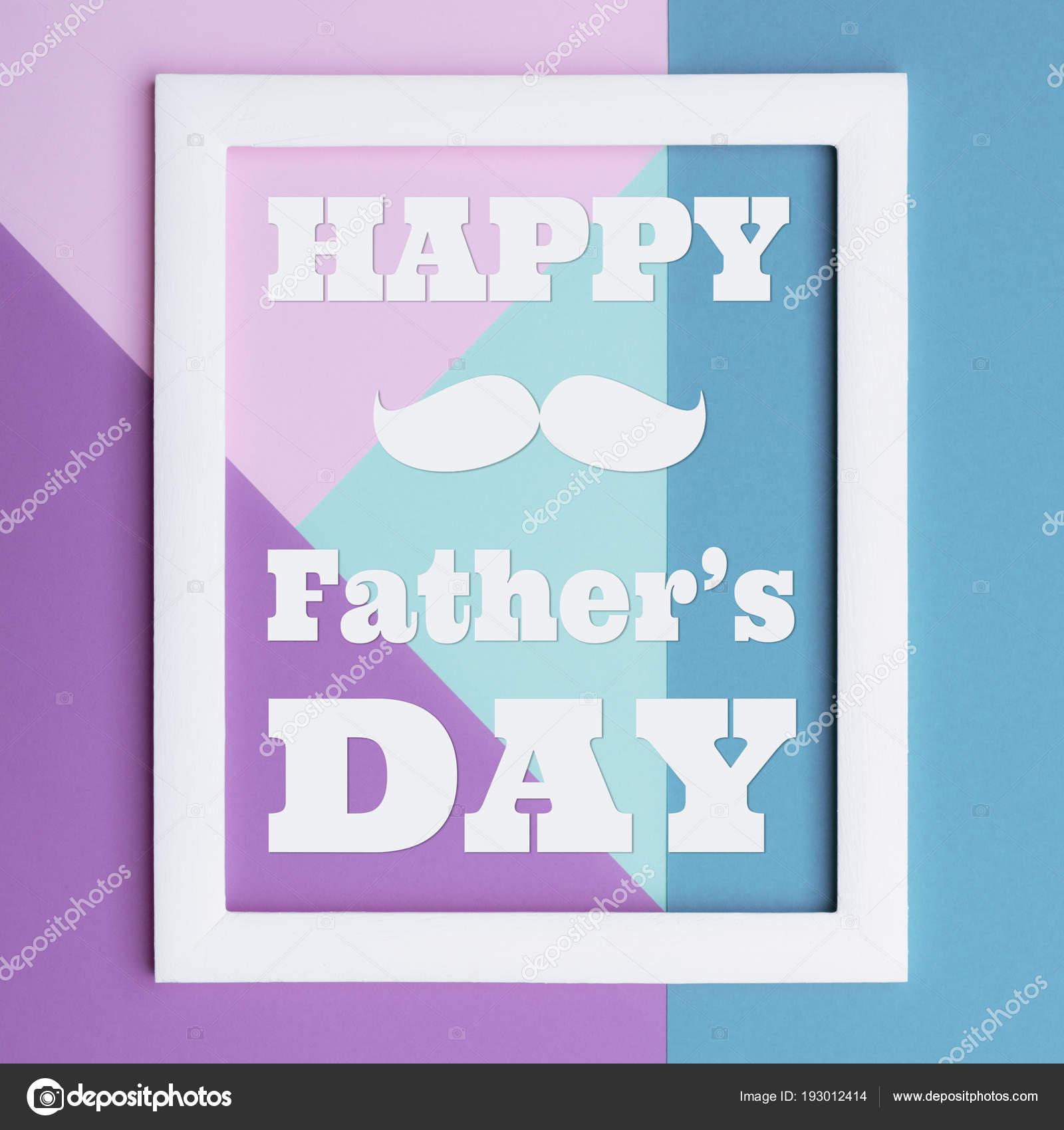 Glückliche Vatertag Pastel Candy Farben Hintergrund Flache Laien ...