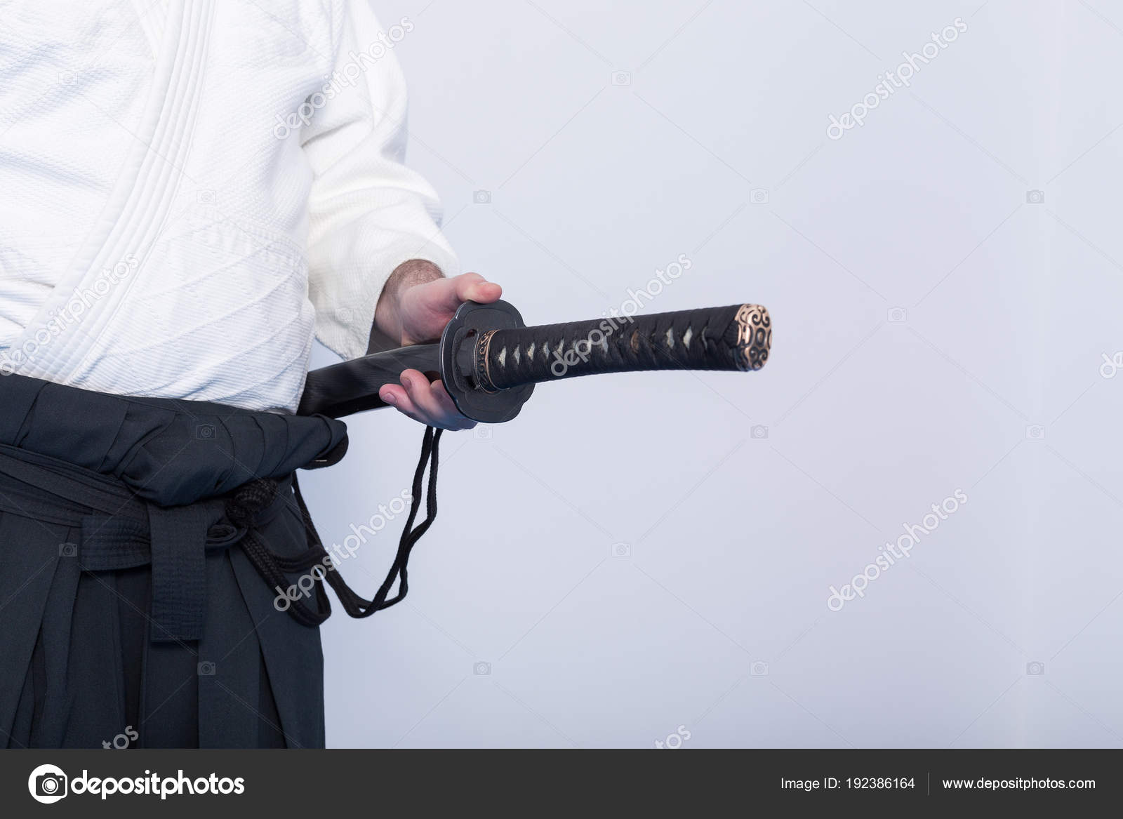 A man with katana on Iaido practice — Stock Photo © ravil_s