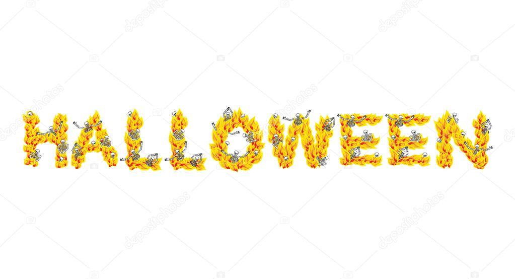 Brand Halloween Brieven Skeletten In De Hel Zondaars In Inferno S