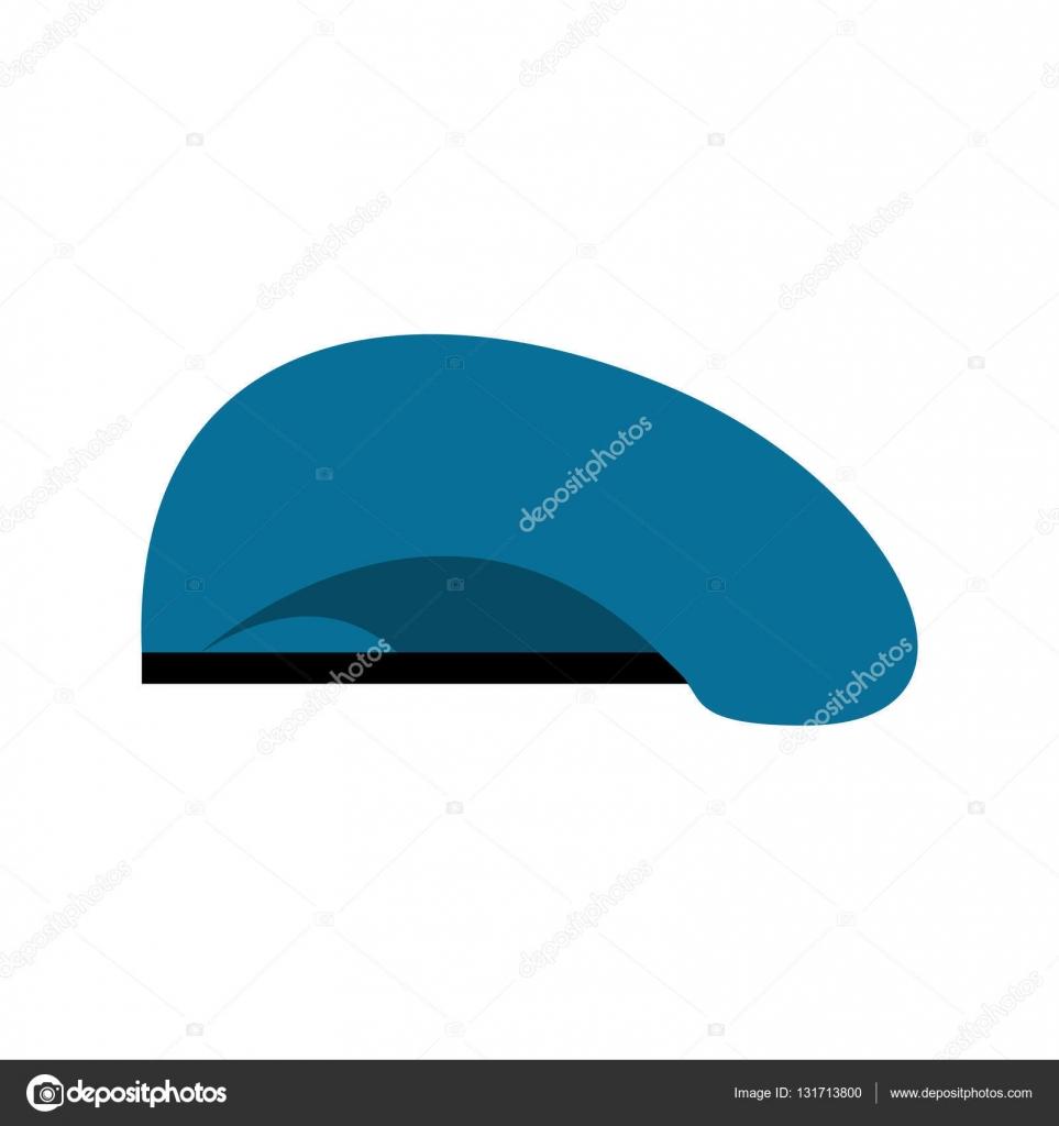 847d2082baf Beret military blue. Soldiers cap. army hat. War barret — Stock Vector