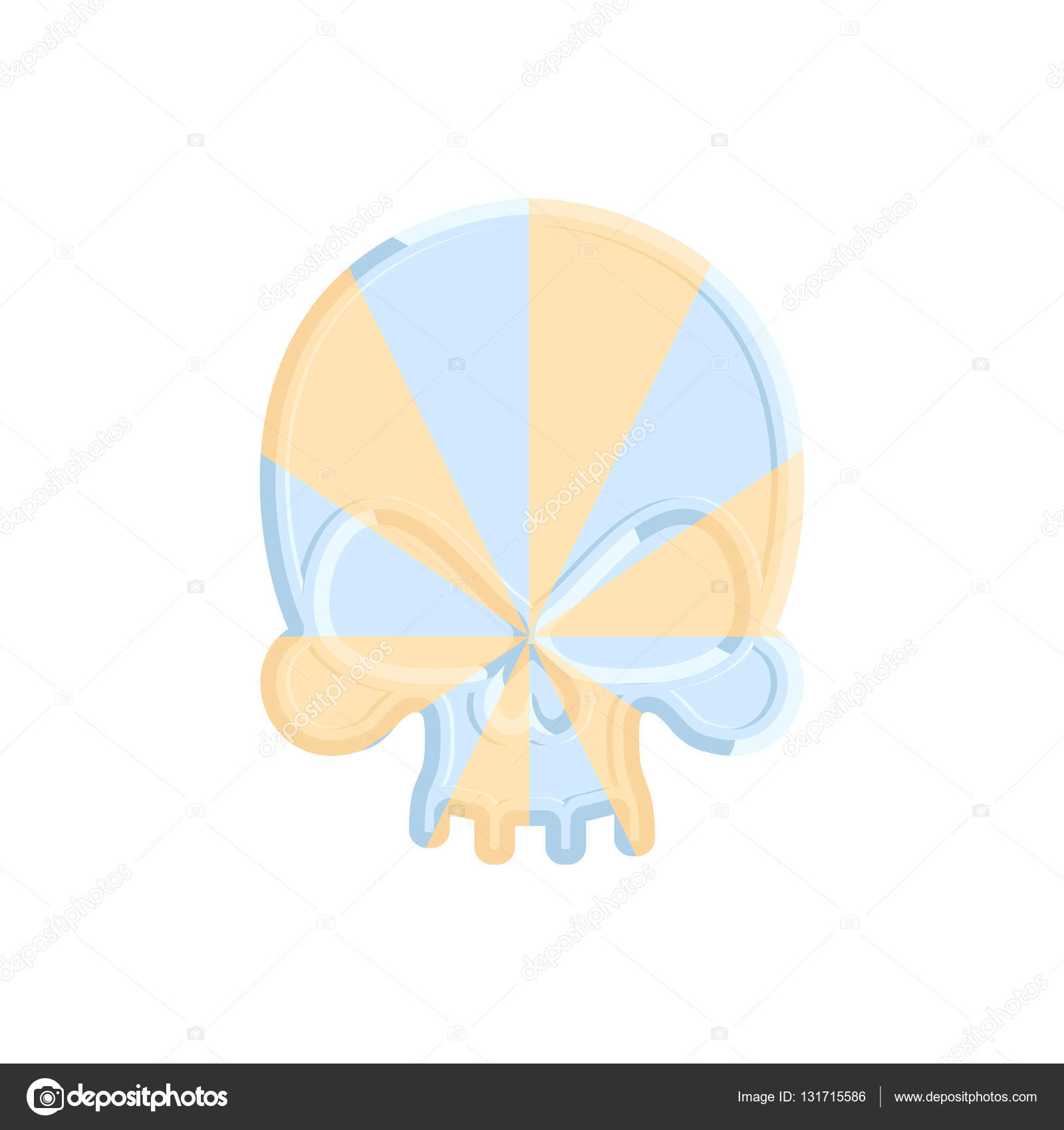 Karamell Schädel. Süße Skelett Kopf. Scary Halloween Süßigkeiten ...