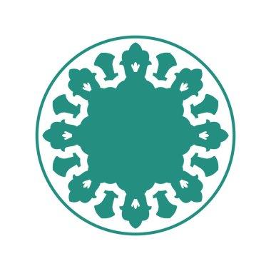 Halal Islamic template symbol. East ornament for emblem. Muslim