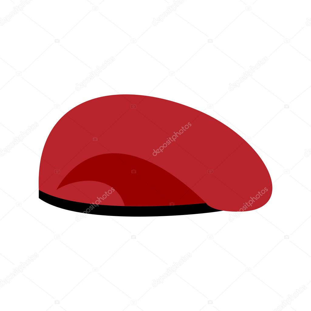 c4f32fbf150 Beret military red. Soldiers cap. army hat. War barret– stock illustration