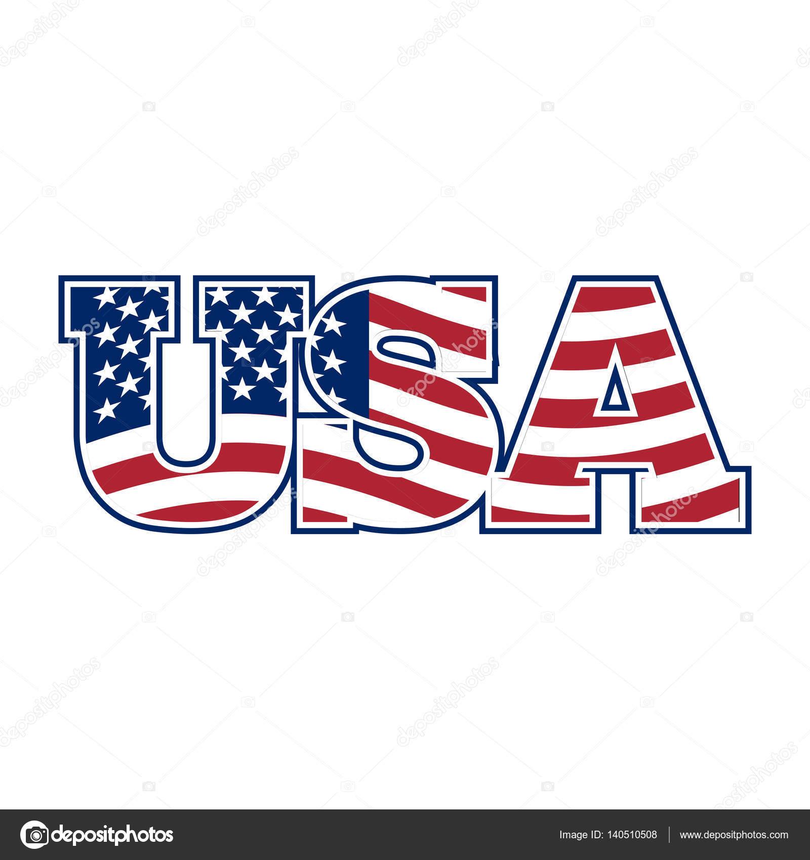 usa schriftzug flagge von amerika und briefe nationalen zeichen stockvektor popaukropa. Black Bedroom Furniture Sets. Home Design Ideas