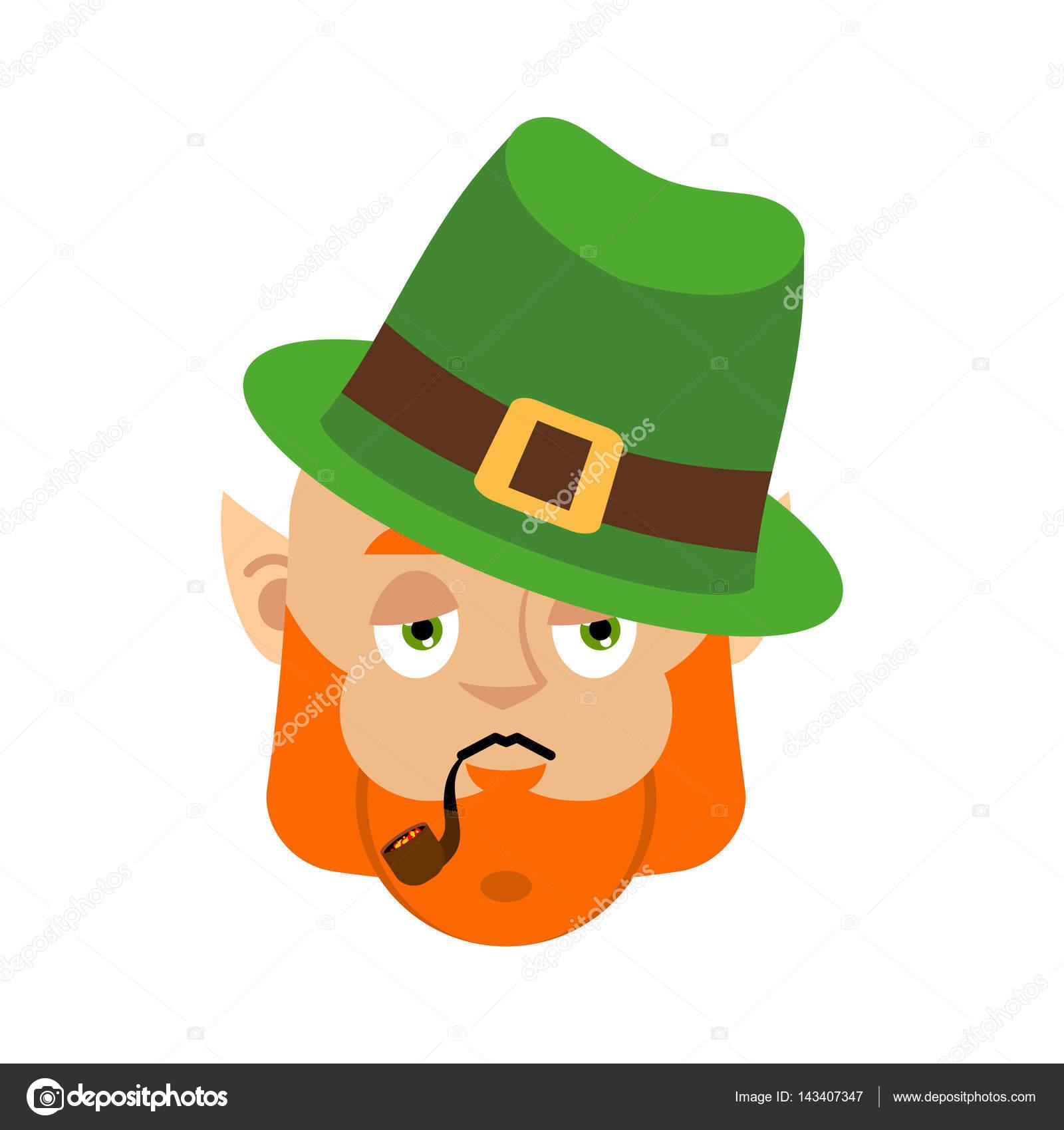 57e2cd6fd655e Leprechaun Sad. Dwarf with red beard sorrowful Emoji. Irish elf ...