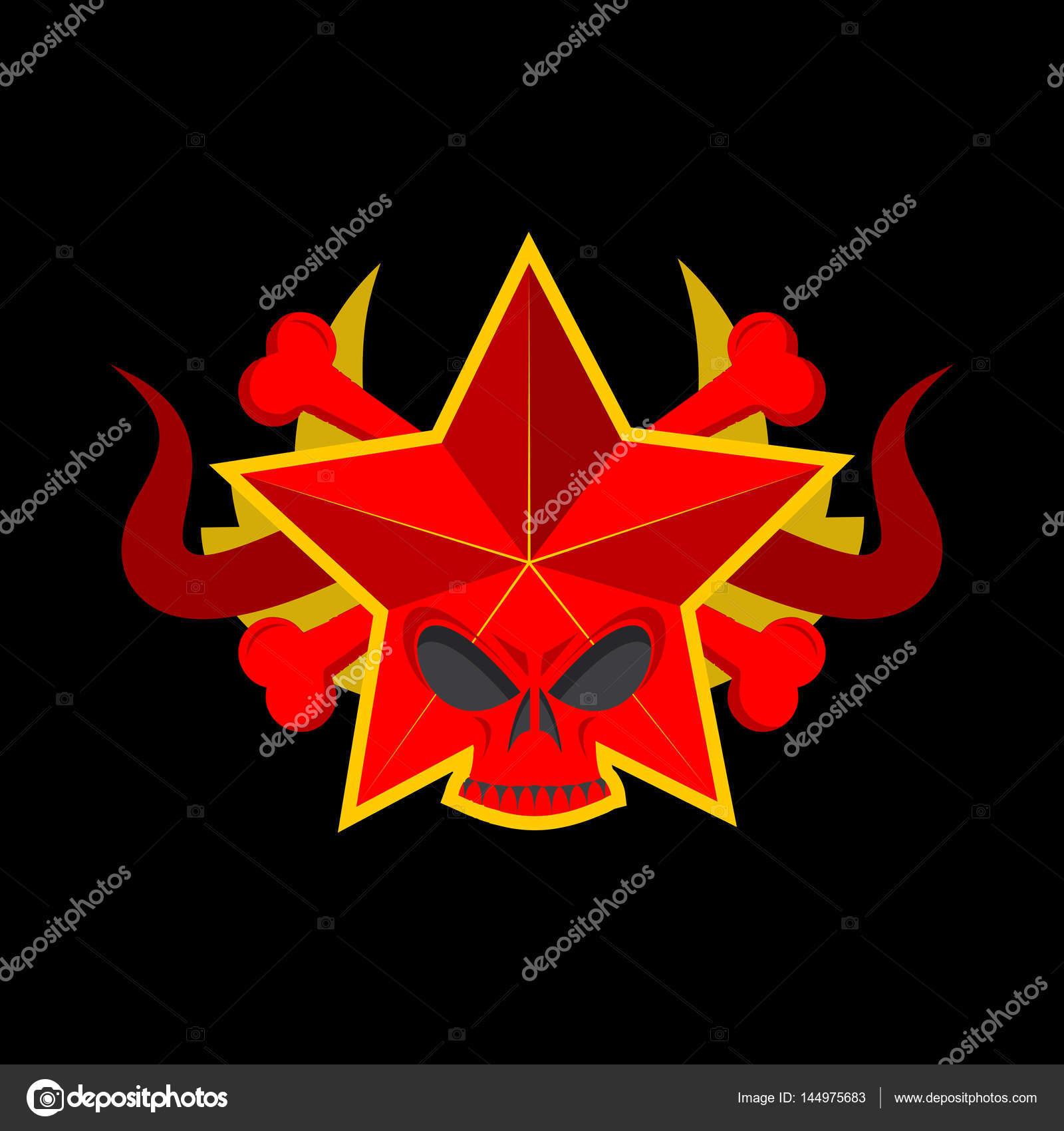Skull red star symbol of specter of communism ussr emblem of d symbol of specter of communism ussr emblem of d stock biocorpaavc Gallery