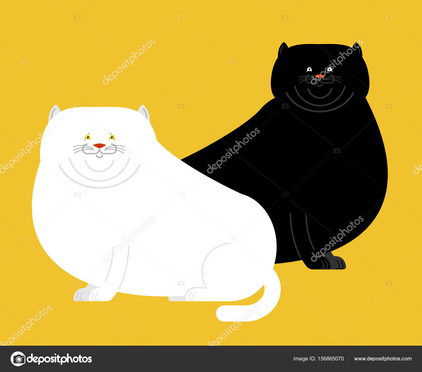 Stáhnout tlustou černou kočičku