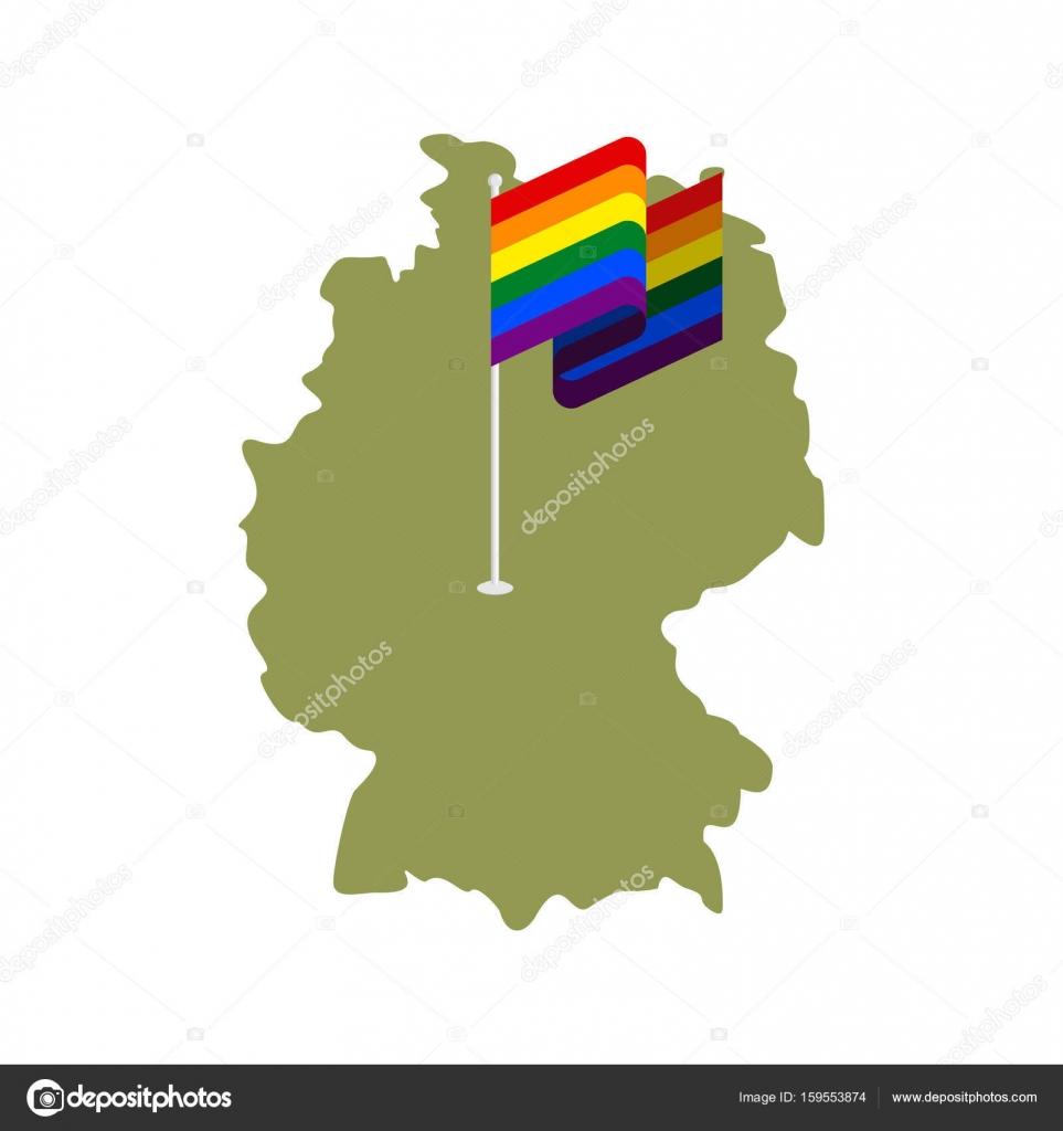 mapa de deutschland y bandera gay co de la unin europea