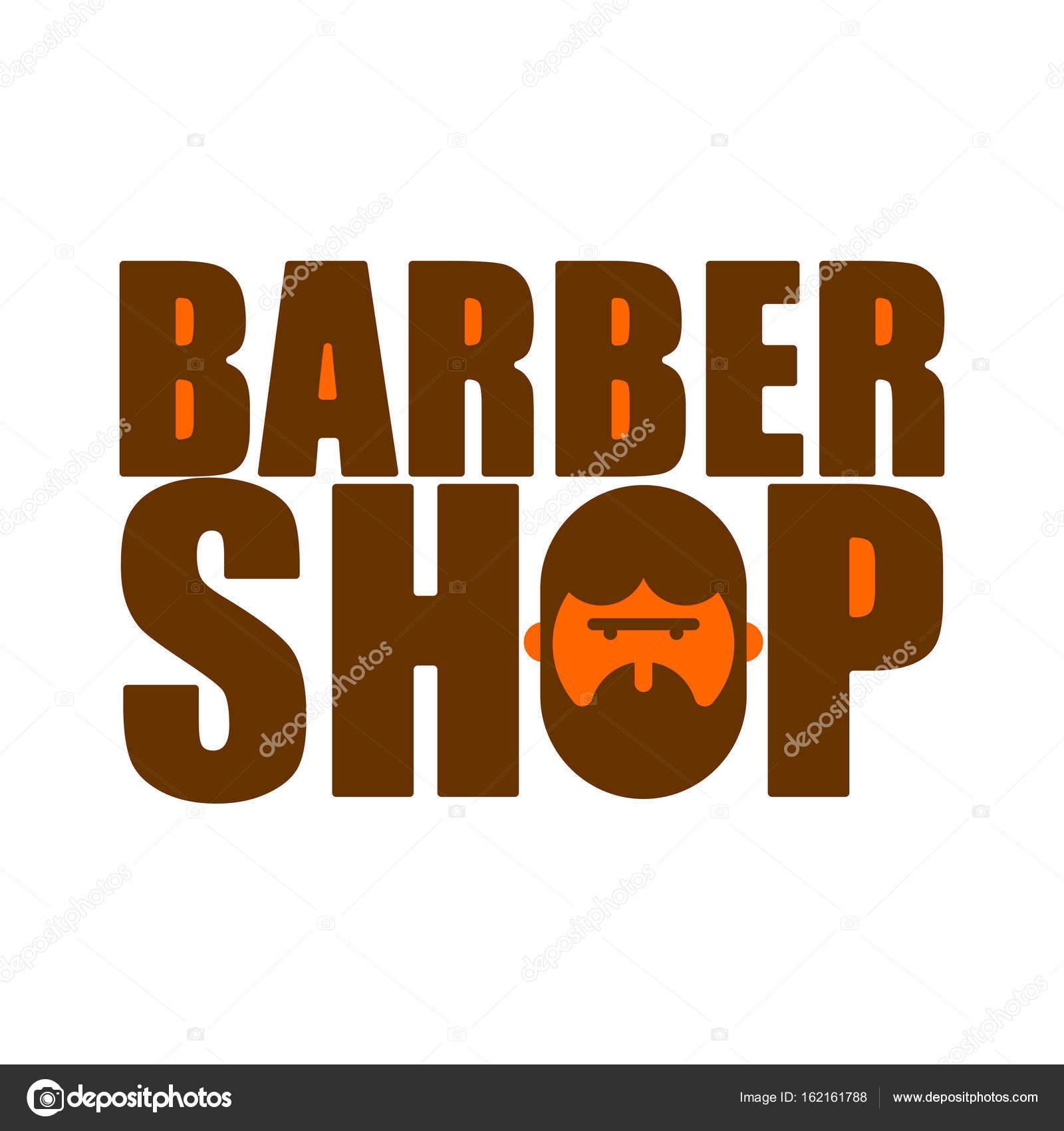 Logotipo de loja de barbeiro. Emblema de cabeleireiro para homens. Corte de  cabelo barba