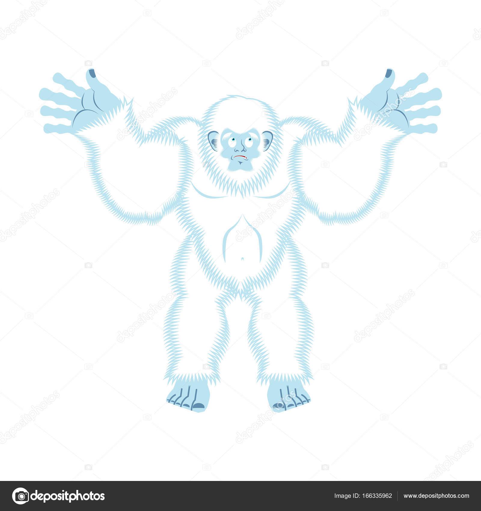 イエティは有罪ビッグフット驚き雪男の Culpablenvec ストック