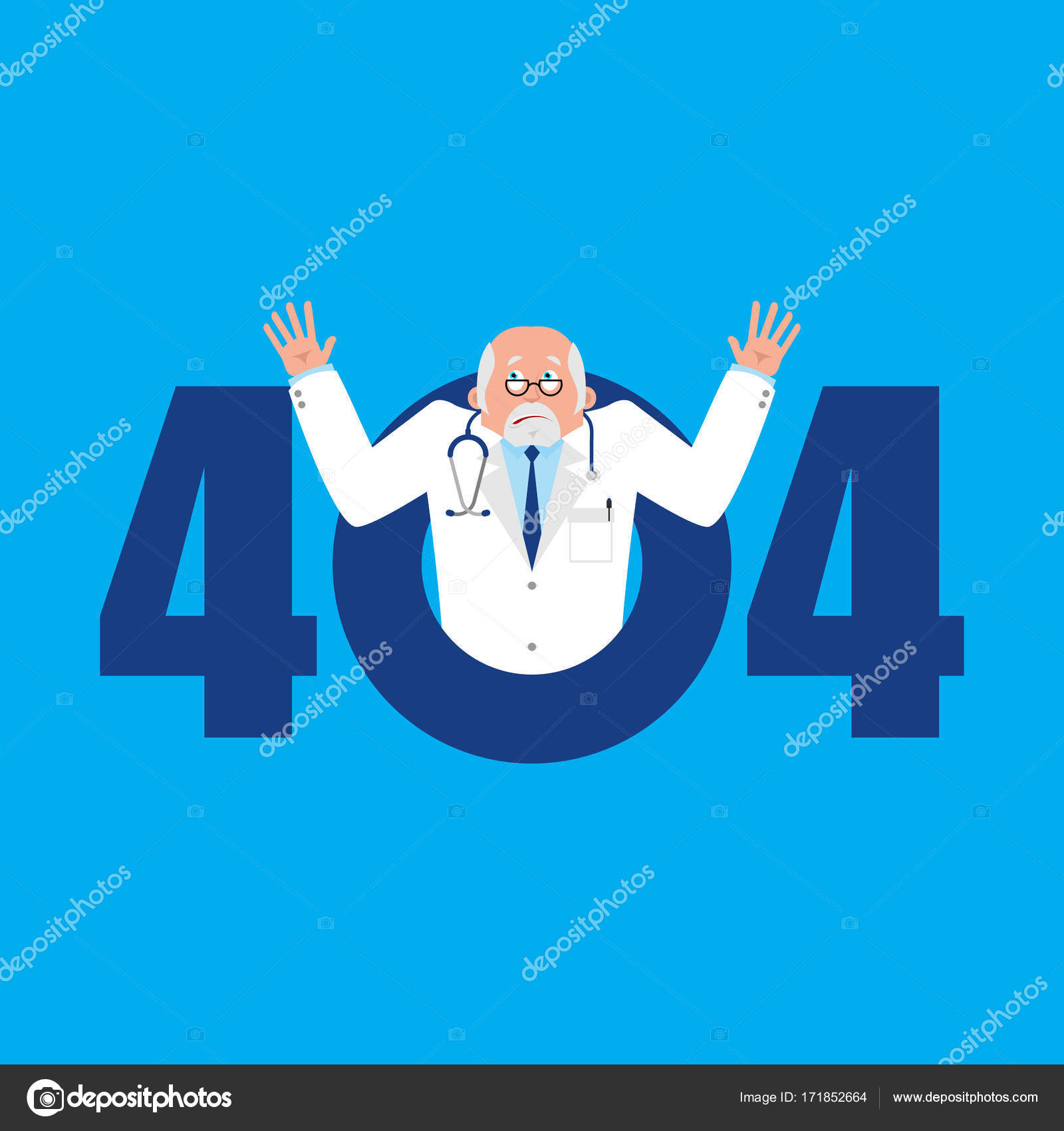 error 404 doctor surprise page not found template for web site