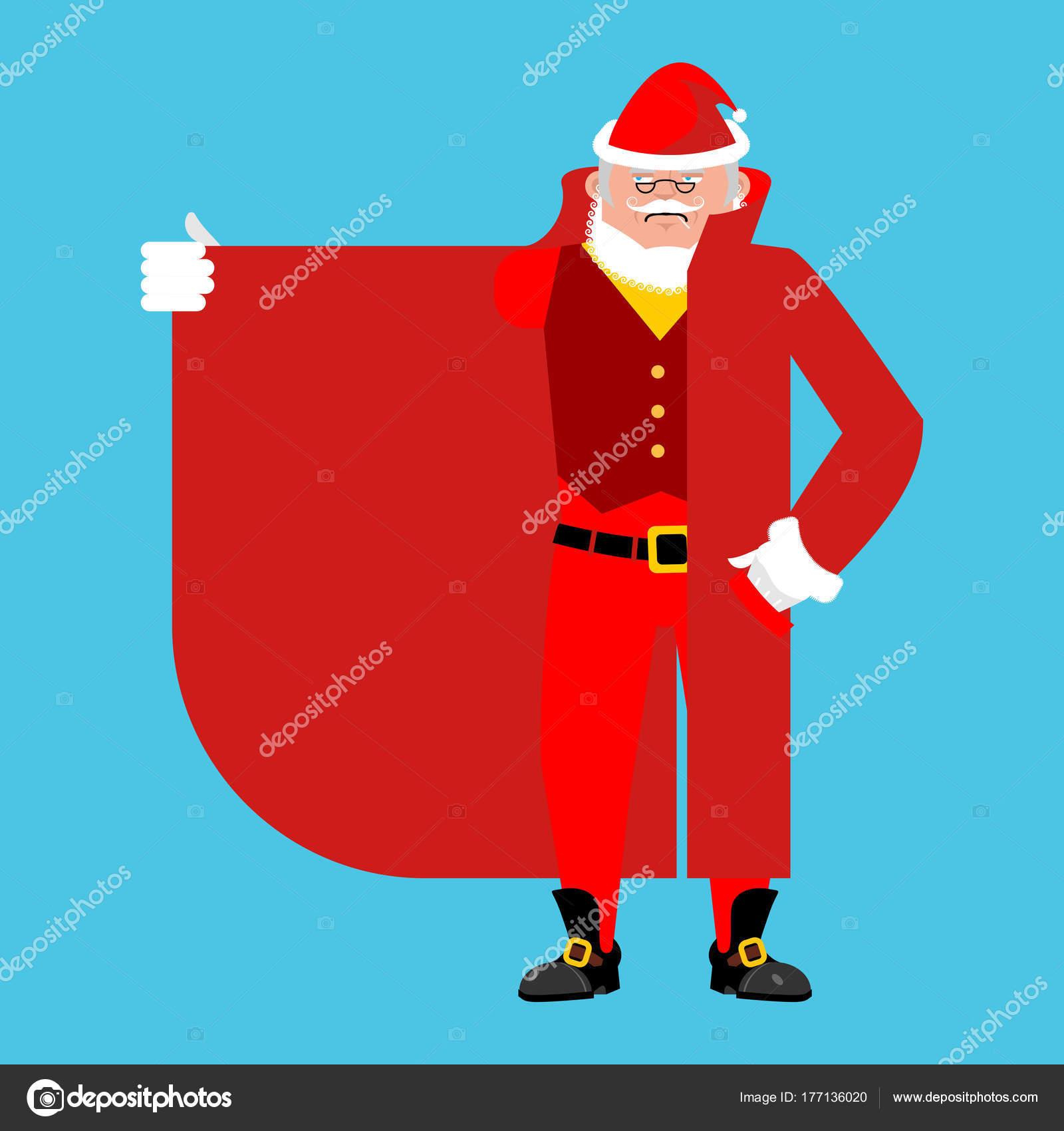 Santa Claus contrabandista vender algo plantilla. Capa-vendedor es ...