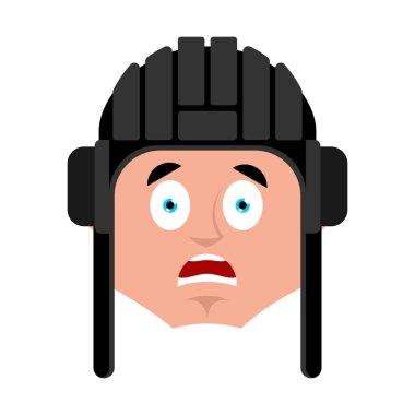 Tankman scared OMG emoji. Russian soldier Oh my God emotion avat