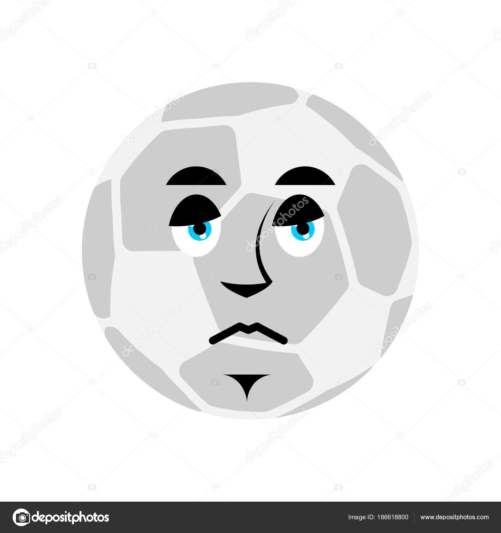 Soccer Ball Traurig Emoji Fussball Ball Schmerzhaften