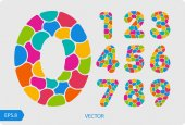 Photo colorful numbers from 1 to 0