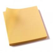 Žluté lepkavé post poznámky doplnit bílým pozadím