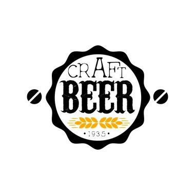 Craft Beer Round Logo Design Template