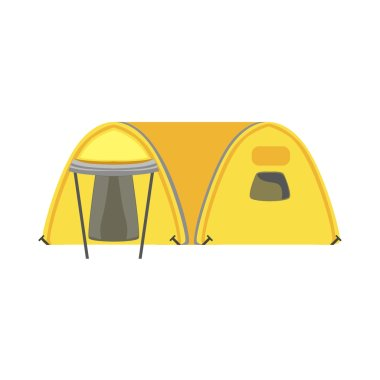 Yellow Large Family Bright Color Tarpaulin Tent