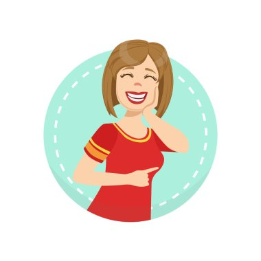 Mocking Emotion Body Language Illustration