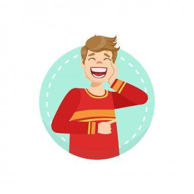 Laughing Emotion Body Language Illustration