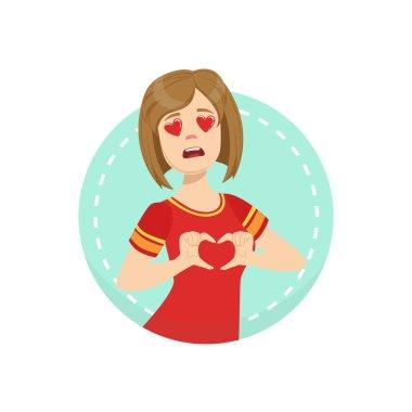 Hearts Before Eyes Emotion Body Language Illustration