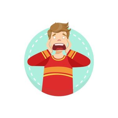 Scared Emotion Body Language Illustration