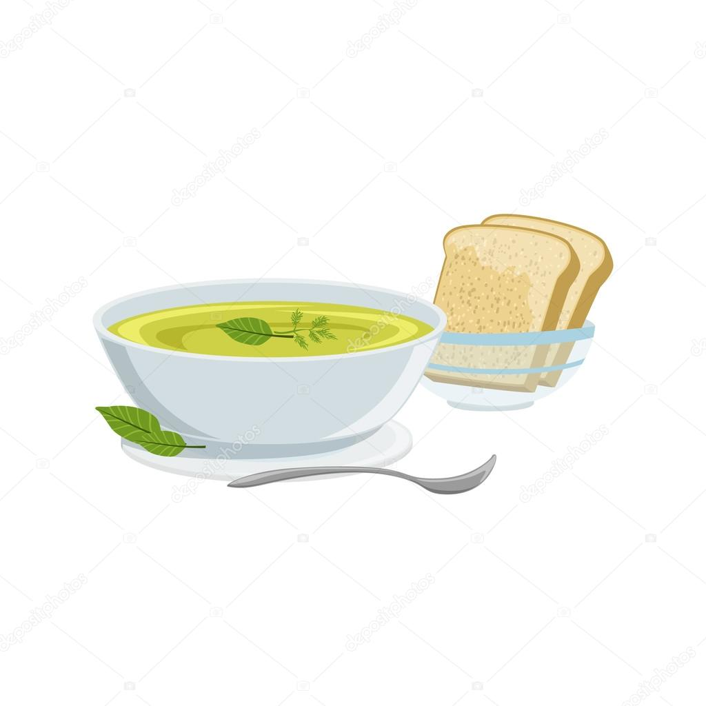 Zupy Kuchnia Europejska Food Menu Pozycja Szczegolowa Ilustracja