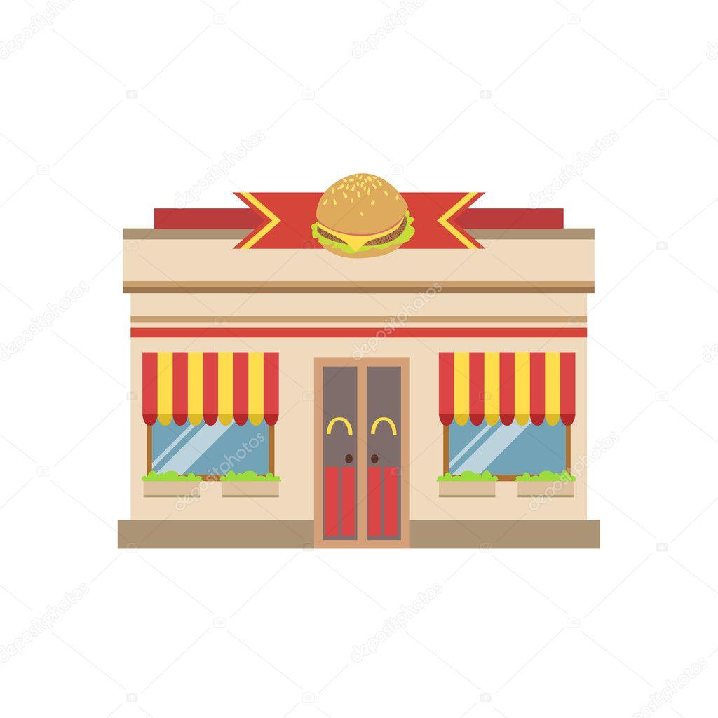 패스트 푸드 카페 상업 건물 외관 디자인 — 스톡 벡터 © TopVectors #127294648