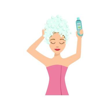 Woman Washing Hair