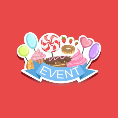 Candies and Sweets Event Template Label