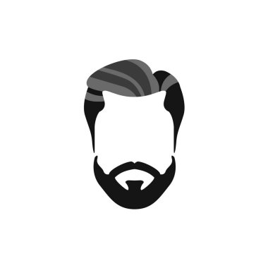 Hipster Male Hair and Facial  Style With Beard  Chevron Moustache