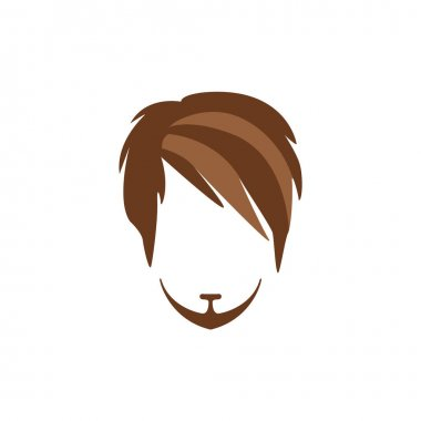 Hipster Male Hair and Facial  Style With Side Fringe  Goatee