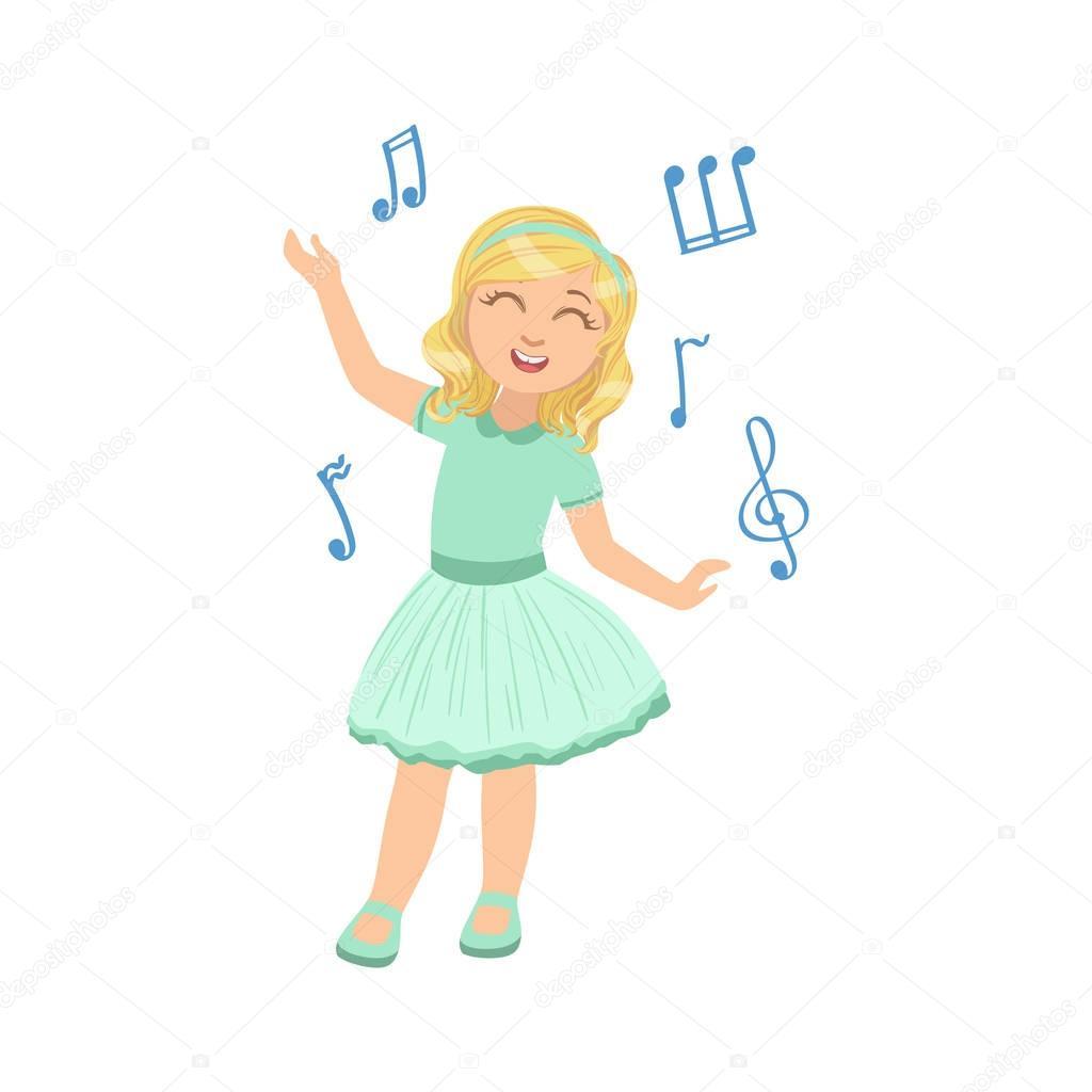 Animado Vestido De Baile Vetor Chica En Vestido Azul