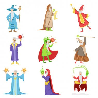 Classic Fantasy Wizards Set Of Characters