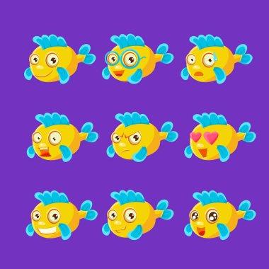 Cute Yellow Aquarium Fish set