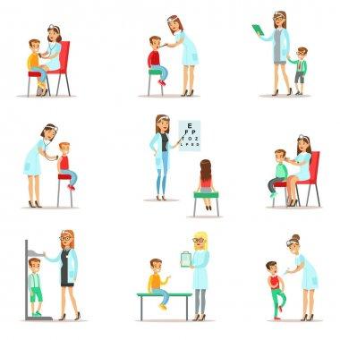 Kids On Medical Check-Up