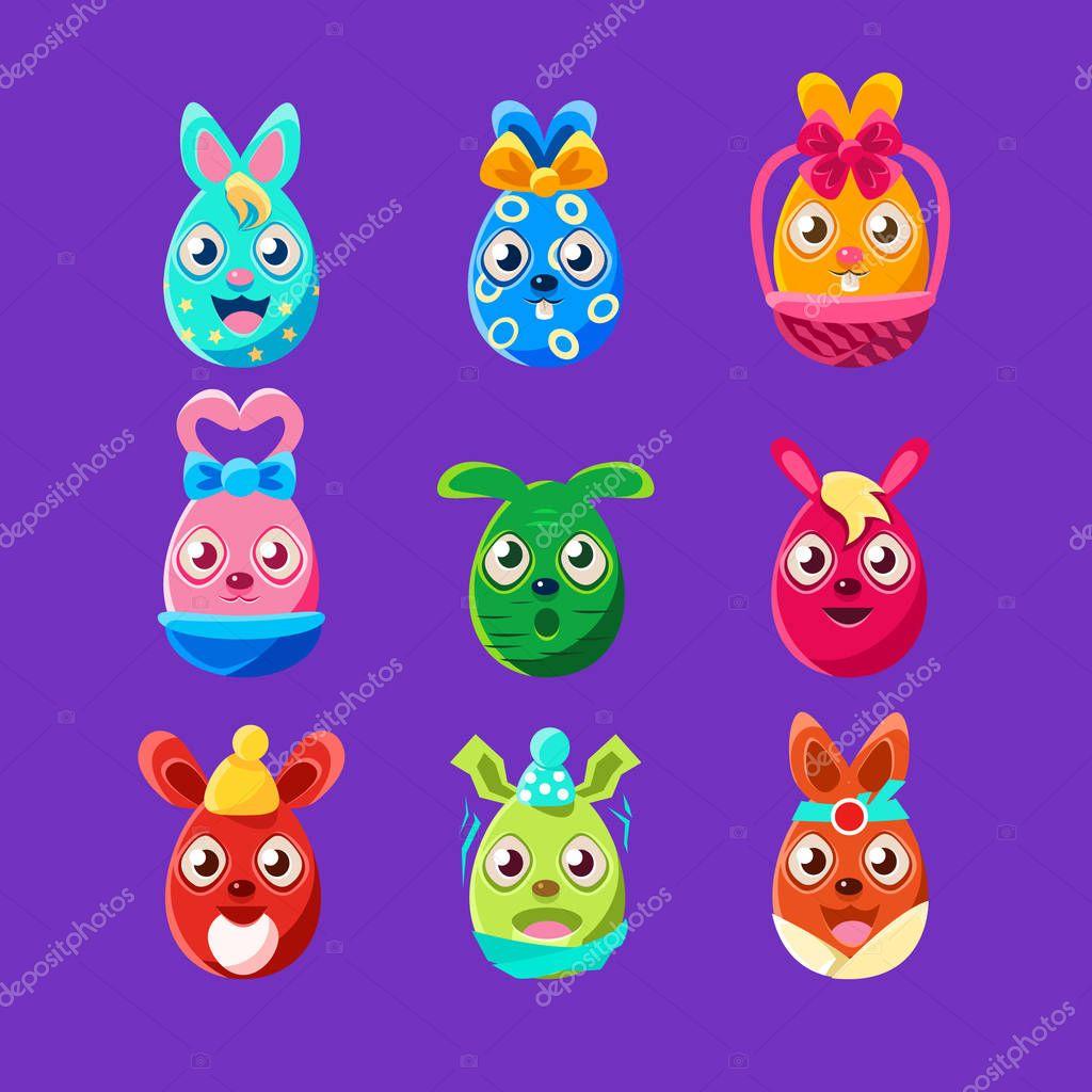 Easter Egg Shaped Bunnies Stock Vector Topvectors 130045220