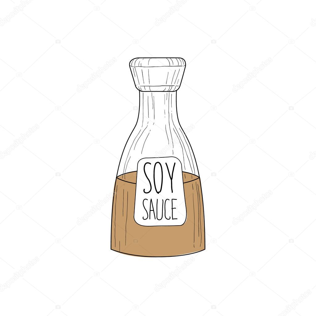 Industrial Soy Sauce Bottle Chinese Food And Wok Fast Food Cafe Menu
